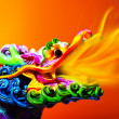 Colorful dragon - Stok fotoraf