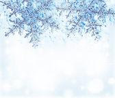 Snowflake blue decorative border — Stock Photo