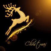 Flying Santa's reindeer — Stock Photo