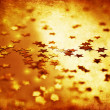Golden stars grunge background - Stock Photo