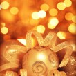 Golden baubles Christmas tree ornament — Stockfoto