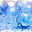 Christmas tree bauble ornament and decoration - Stock Photo