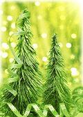 Green Christmas tree — Stock Photo