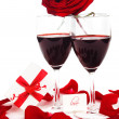 Romantic holiday celebration — Stock Photo