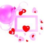 Romantic holiday photo frame — Stock Photo