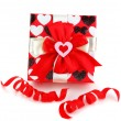 Red romantic gift box — Stock Photo