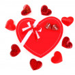 Red heart romantic gift — Stock Photo #8247613