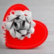Red heart romantic gift — Stock Photo #8247655