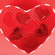 Stock Photo: Red heart romantic gift