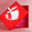 Royalty-Free Stock Photo: Red romantic gift box