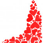 Red hearts border — Stock Photo