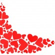 Red hearts border — Stock Photo