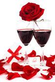 Romantic holiday celebration — Stock Photo