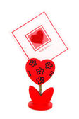 Blank card with red heart — Foto de Stock