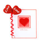Blank card with red heart — Stock Photo