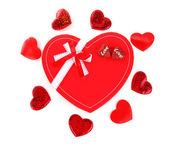 Red heart romantic gift — Stock Photo