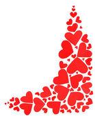 Röda hjärtan gränsen — Stockfoto