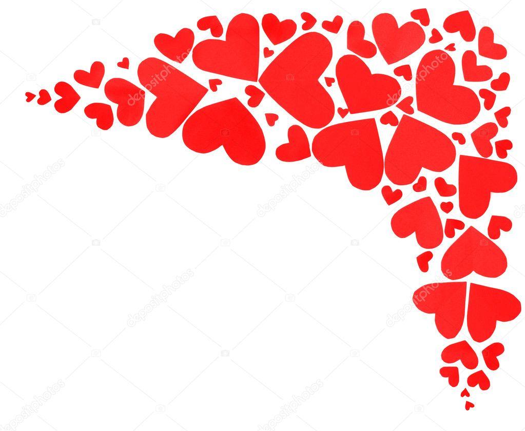 红色心形边框 — 图库照片08annaomelchenko