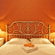 Romantic bedroom interior - Stockfoto