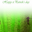 Green lucky beer background border - Stock Photo