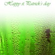Stock Photo: Green lucky beer background border