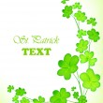 Green fresh clover border — Stock Photo