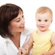 Happy mother with a baby — Stock Photo