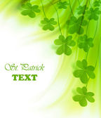 Green fresh clover border — Stock Photo