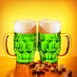 Irish green beer - Stock Photo