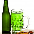 Cold green beer — Stock Photo