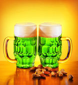Irish green beer — Stock Photo