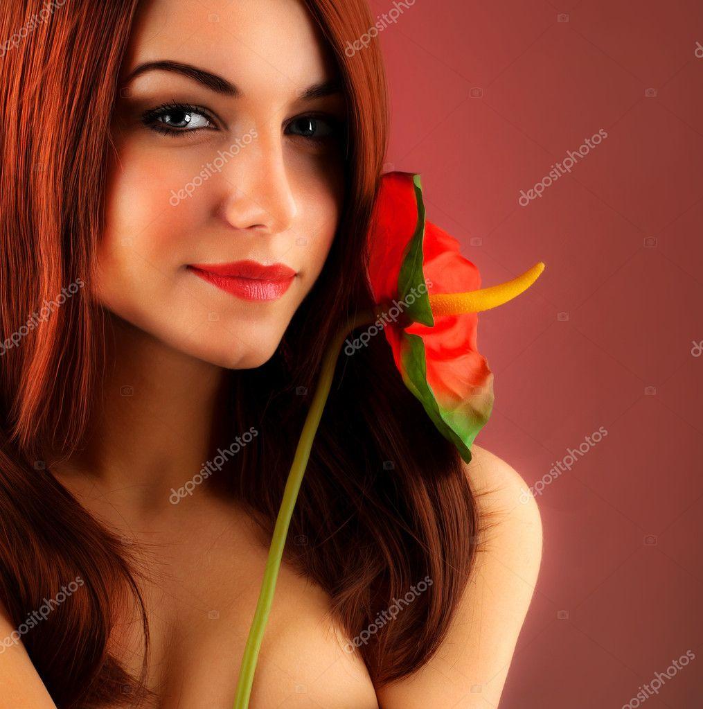 Garota de cabelo vermelho sexy