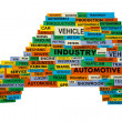 Words describing automotive industry — Stock Photo #8965274