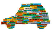 Words describing the automotive industry — Stock Photo