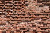 Old broken brick wall — Stock Photo