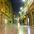Streets of city of Cartagenat night with lighting, spain — Stock Photo #8241468