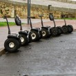 Stock Photo: Several vehicles parked Segway