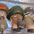 Old military gas masks — Stock Photo