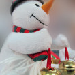 Snowman on Christmas — Foto Stock