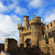 Medieval Templar Castle of year 1178 in Ponferrada, Spain — Foto Stock