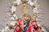 Figure of the Virgin in a procession — Stock Photo