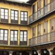 Detail of typical buildings in the city of Lugo, spain - Stock Photo