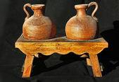 陶磁器用粘土の瓶 — ストック写真