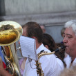 Madrid - OCT 20: musicians performing on the street on OCT 20, 2 — Stock Photo