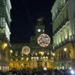 Madrid - DEC 22: Christmas atmosphere in the streets on DEC 22, — Stock Photo