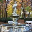 Ornamental fountains of the Palace of Aranjuez, Spain - Stock Photo