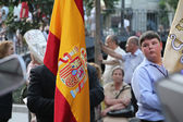 Madrid - SEP 20: typical religious procession in Madrid on SEP — Stockfoto