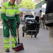 Stock Photo: Sweeper cleaning service worker of the City of Madrid