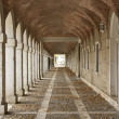 Hallway in Royal Palace of Aranjuez (Spain) - Stock Photo