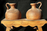 Jars of clay for pottery — Stock Photo